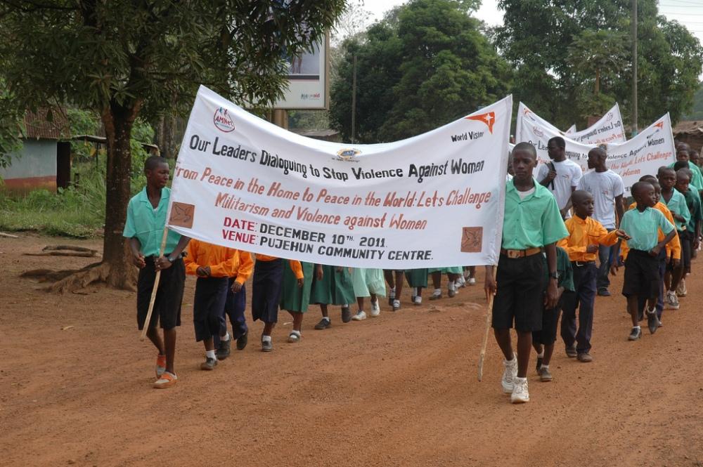 Sierra Leone wolrd vision day march