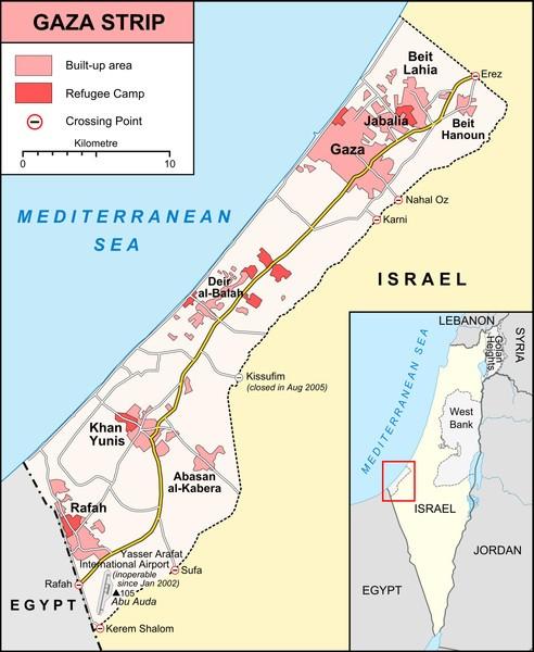 Gaza Map Vox